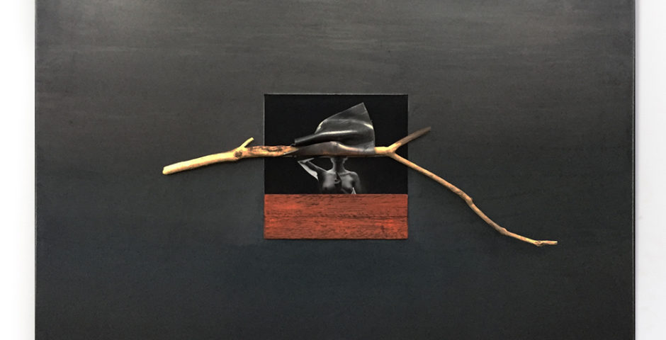 Cold Steel Anonymous 2018 - SOLD ^ 49,5CM X 49,5CM Photo - Steel - lead - wood <br> Price 525 € (VAT included)